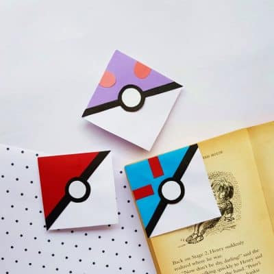 DIY Pokeball Corner Bookmark: A Pokemon Craft