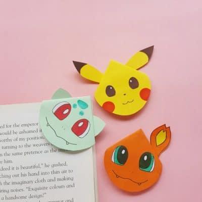 DIY Pokemon Corner Bookmarks