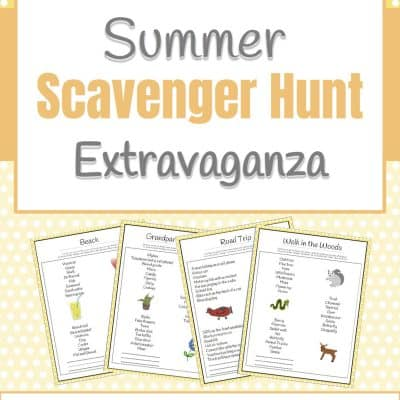 Free Summer Scavenger Hunt Printable Pack
