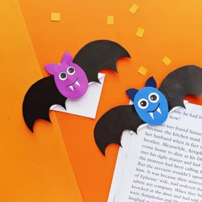 Adorable Bat Corner Bookmarks for Halloween