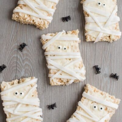 Mummy Halloween Rice Krispy Treats