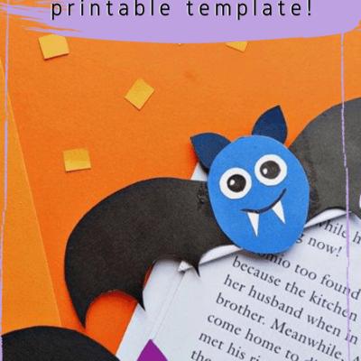 Adorable Bat Corner Bookmarks for Halloween