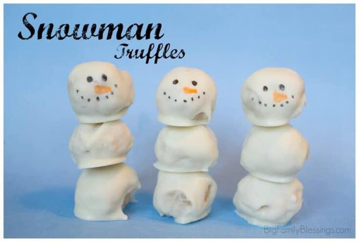 Snowman Truffles {Fun with Food}