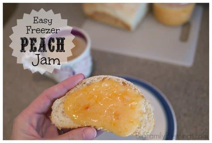 Quick & Easy Freezer Peach Jam