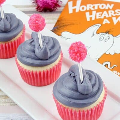 Dr. Seuss Party Idea – Horton Hears A Who Cupcakes