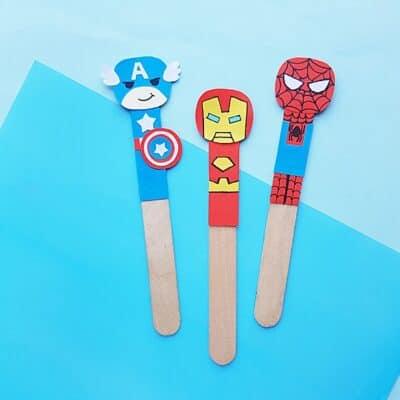 DIY Superhero Craft- Avengers Bookmarks