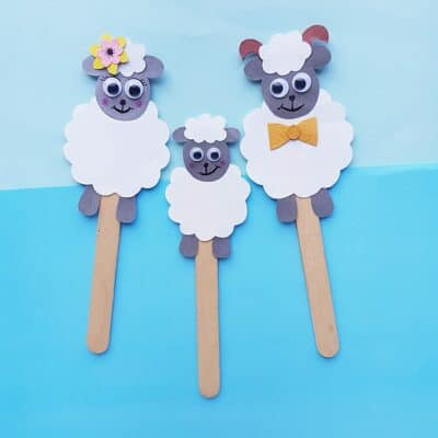 Sheep Craft: DIY Popsicle Stick Puppets