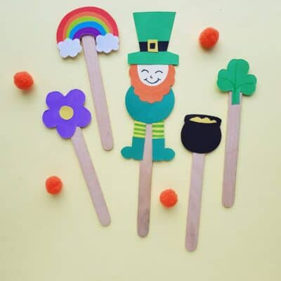 Puppet St Patrick's Day Craft {with Free Template}