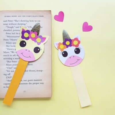 Adorable DIY Unicorn Bookmark