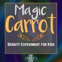 Magic Carrot Salt Water Density STEAM Experiment