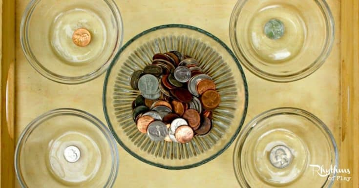 Coin Sorting: Montessori-Inspired Sensorial Acitivity
