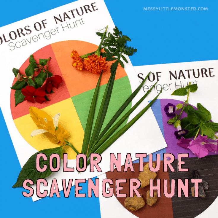 Colors of Nature Scavenger Hunt