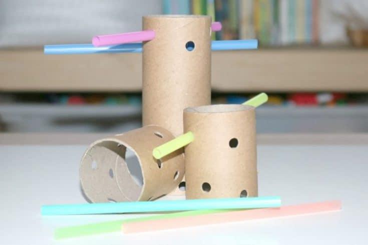 DIY Tinker Toys Investigation Station for Little Kids