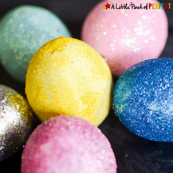 Glitter Those Easter Eggs: Easy Decorating Idea for Kids -