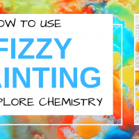 Fizzy Painting – STEM activity for kids