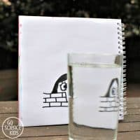 'Magic' Drawing with Refraction of Light: an art meets science activity for kids