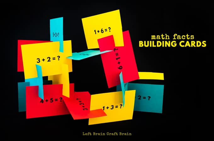 Math Facts Building Cards