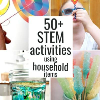 50+ STEM Activities for Kids using Household Items