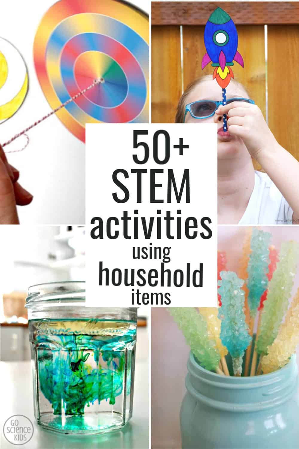 50 Stem Activities For Kids Using Household Items