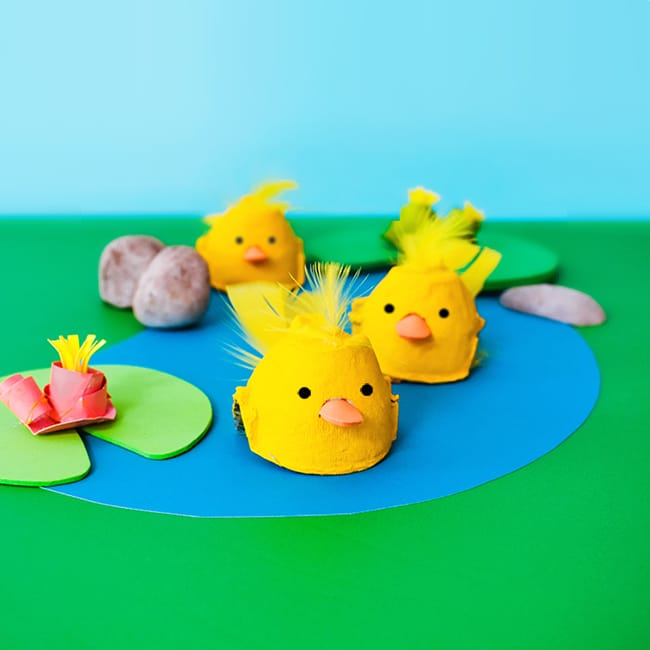 Make: Egg Carton Cup Floating Ducklings