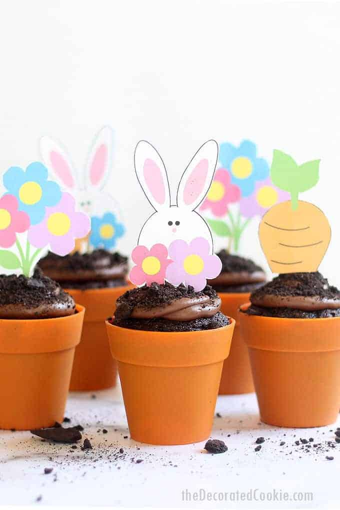Flower Pot Easter Cupcakes