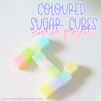 Colored Sugar Cubes Science Project