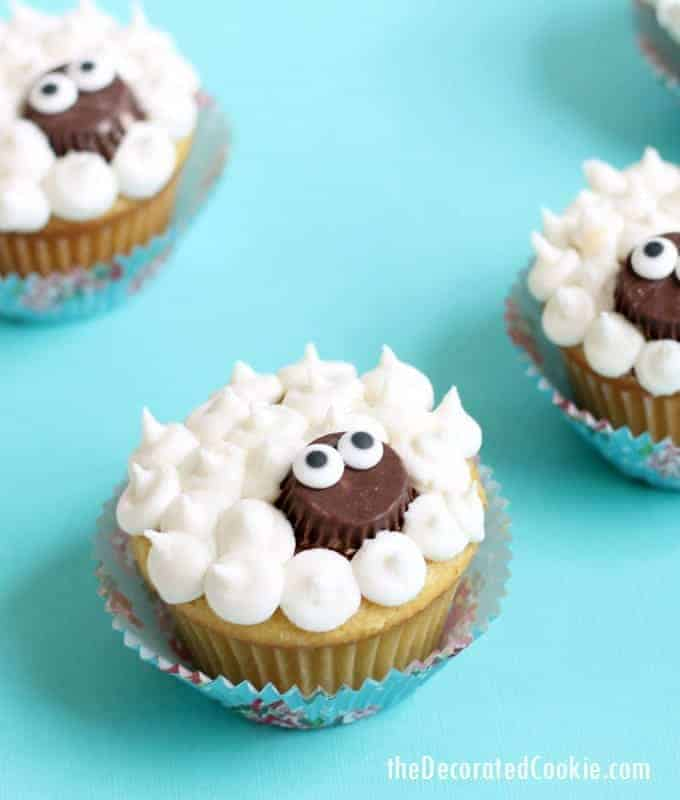 Super simple lamb cupcakes. A fun treat for Easter.