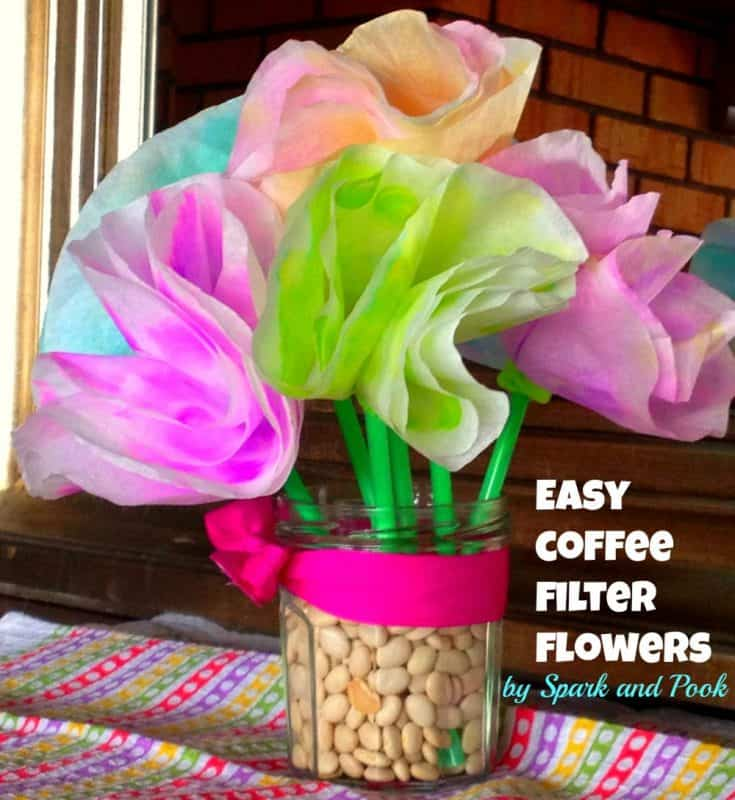 Easy Toddler Coffee Filter Flowers