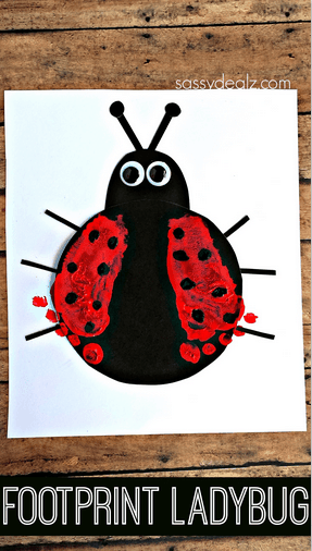 Footprint Ladybug Craft for Kids - Crafty Morning