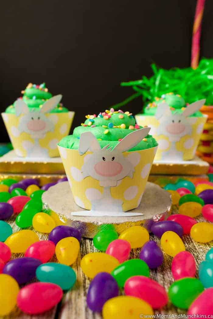 Bunny Cupcake Wrappers (Free) - Moms & Munchkins