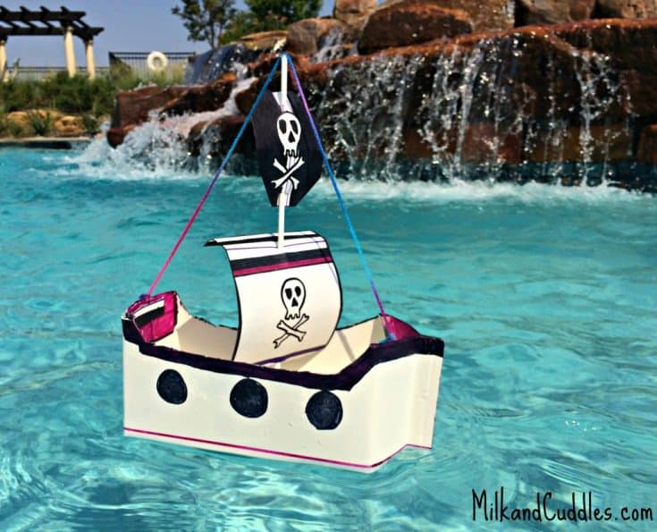 Make a Floating Pirate Ship - out of Recyclables!