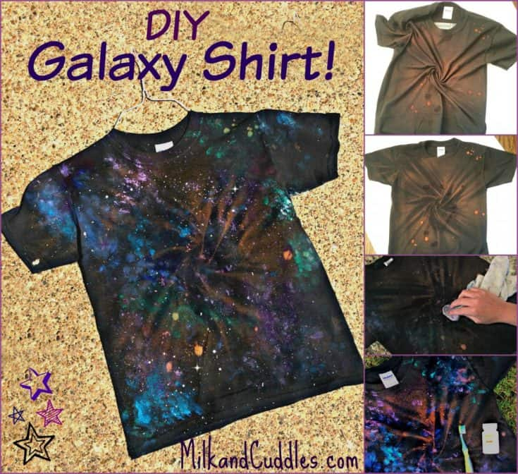 How to make a Galaxy Shirt - a Dr.Who, Star Wars craft!