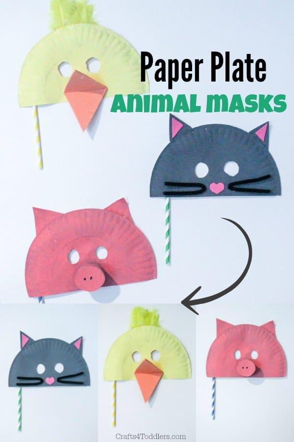 Easy Paper Plate Animal Masks