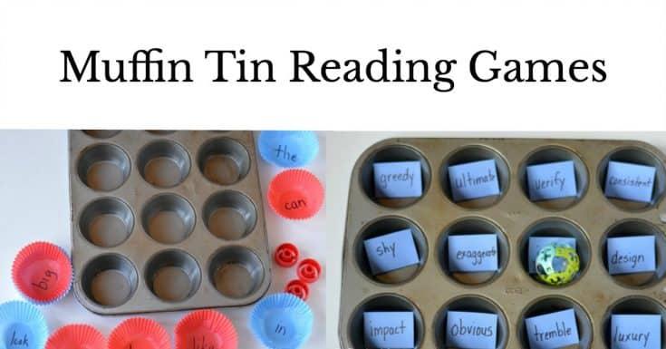 4 Super Fun & Easy Muffin Tin Reading Games