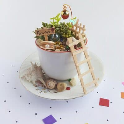 DIY Fairy Garden in a Teacup