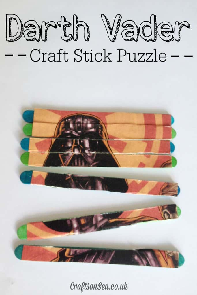 Darth Vader Craft Stick Puzzle