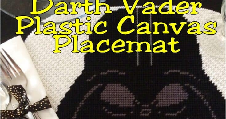 Darth Vader Place Mat Plastic Canvas Pattern