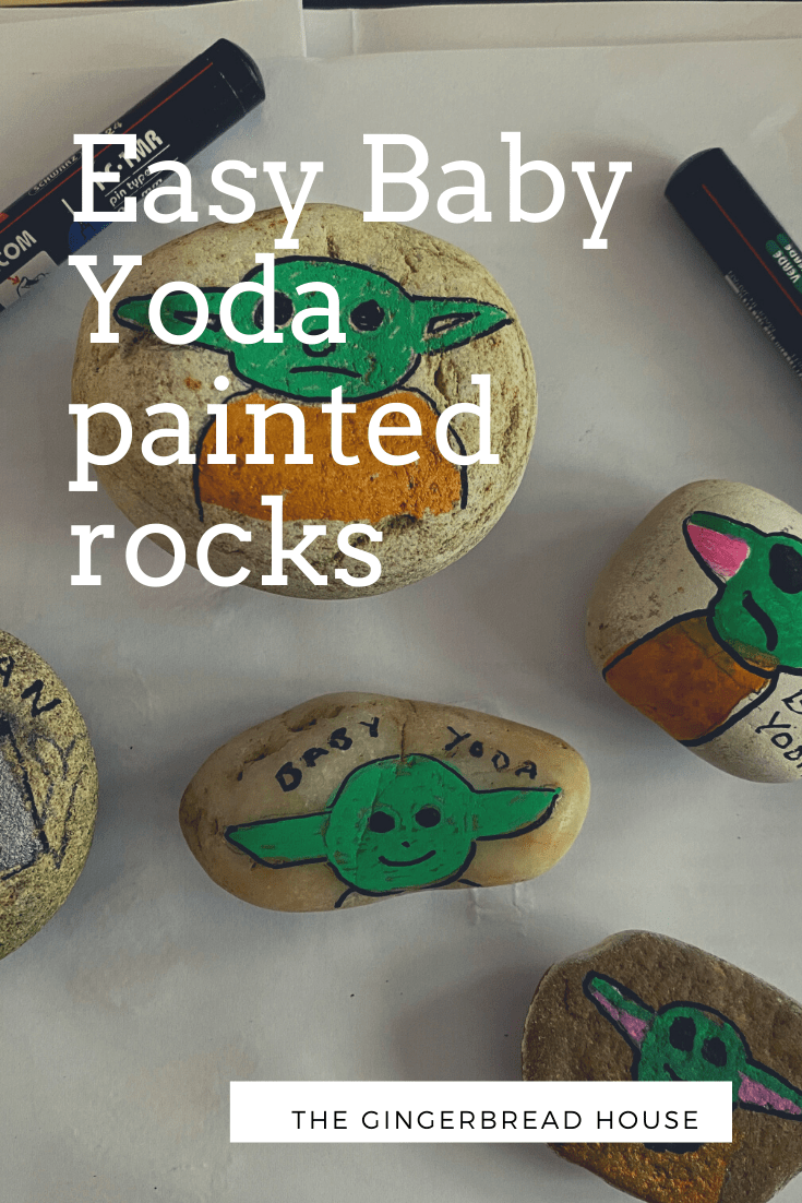 Easy Baby Yoda painted rocks - the-gingerbread-house.co.uk
