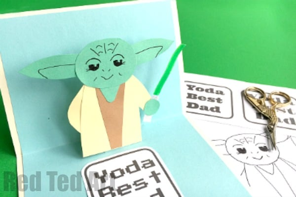 Pop Up Yoda Card