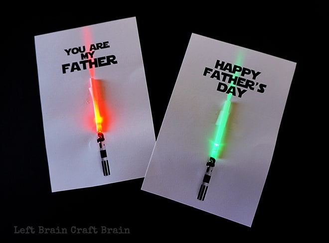 Light Saber Father's Day Cards