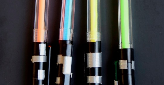 DIY Lightsaber Pens!