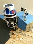 R2-D2 Mason Jar Piggy Bank
