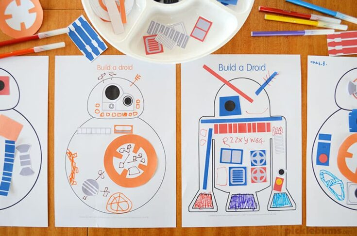 Build a Droid - Star Wars Party Printable