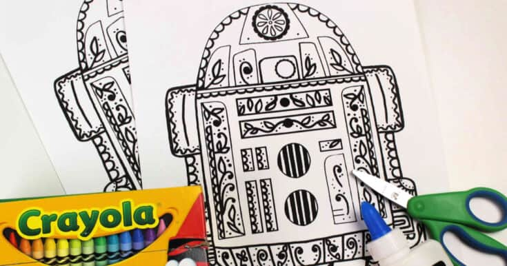 Free Printable R2-D2 Sugar Skull Craft