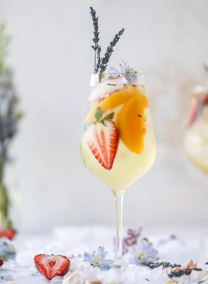 Lavender White Wine Sangria