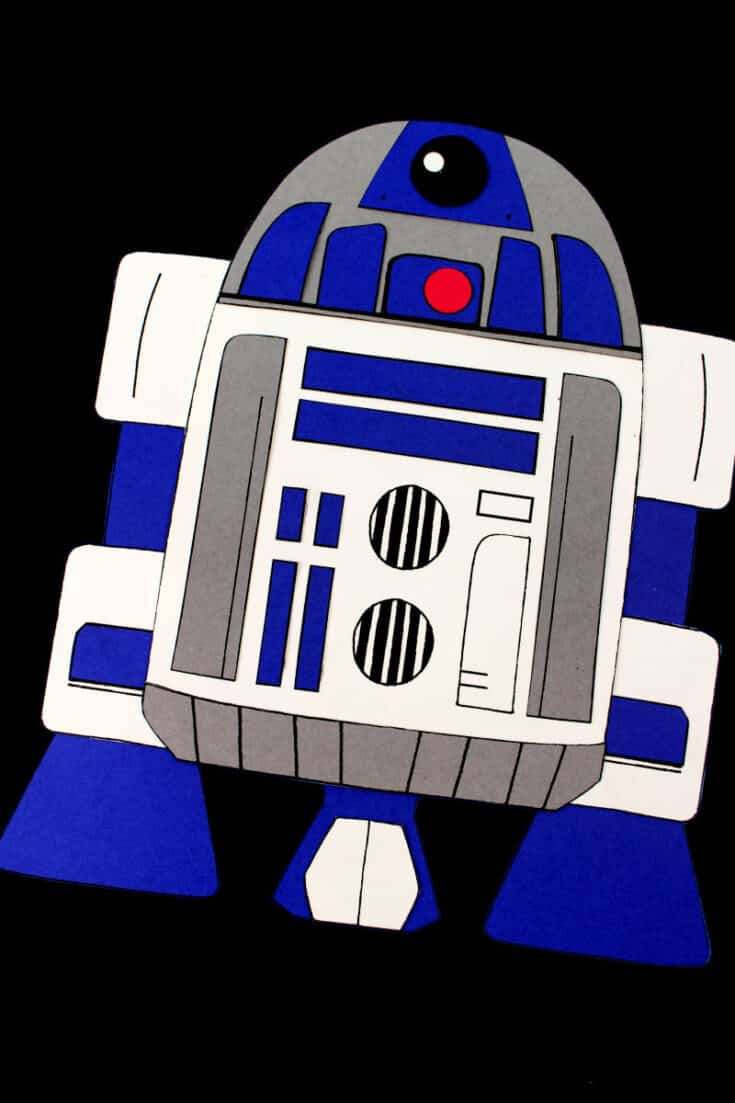 Printable R2-D2 Craft