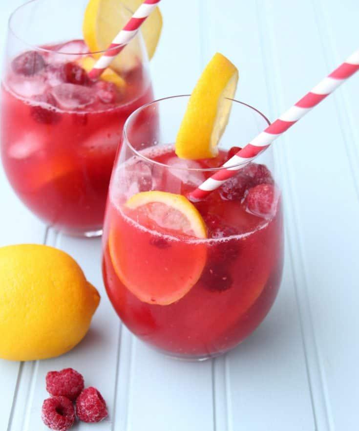 Raspberry Lemon Quench Rose Sangria