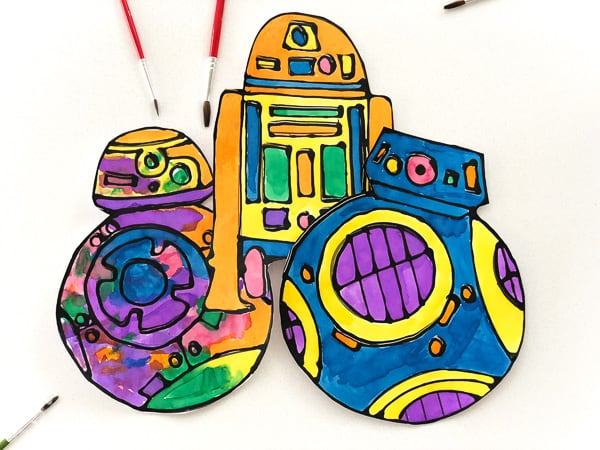 Watercolor Droid Craft