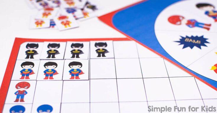 Superhero Graphing Game