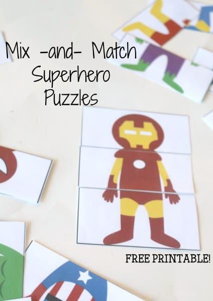 Mix & Match Superheroes